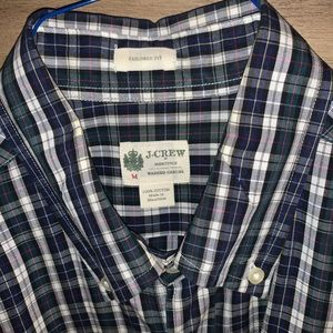 Men's JCrew Navy Gingham Button Down